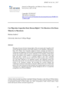 Can Migration Jeopardize Basic Human Rights?: The Situation of Roma Minority In Macedonia