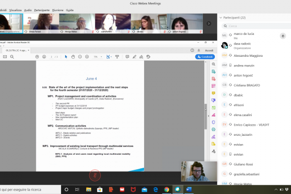 Virtual Steering Committee (SC) meeting of the SUTRA project