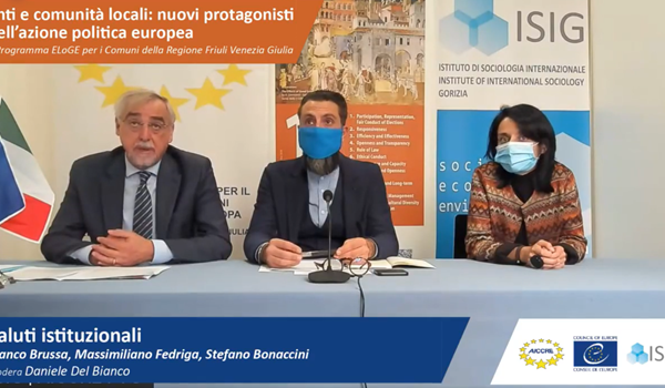 Online Conference of the launch of the ELoGE programme in Friuli Venezia Giulia Region
