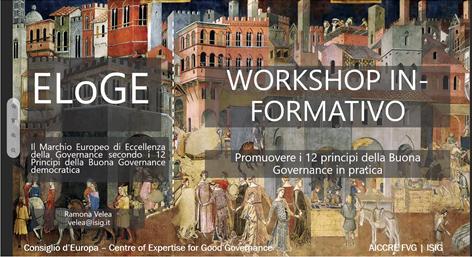 Incominciati i primi Workshop in-formativi online ELoGE FVG con i Comuni