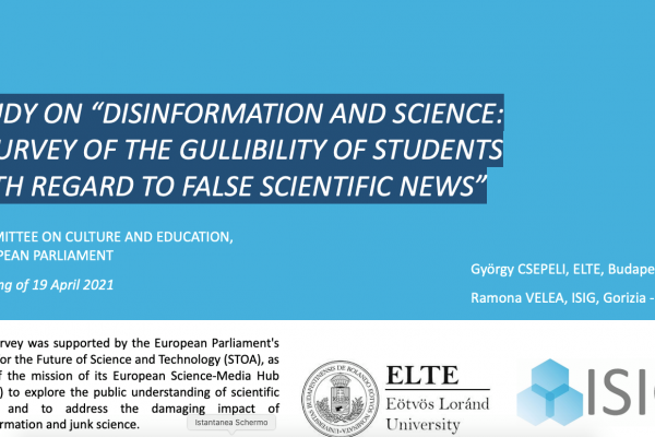 Is it true what they say about Fake news? ISIG @ EU Parliament
